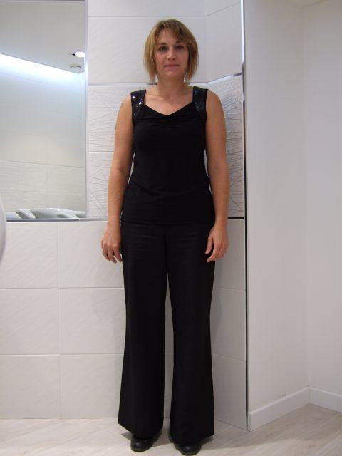 Relooking vestimentaire Delphine avant